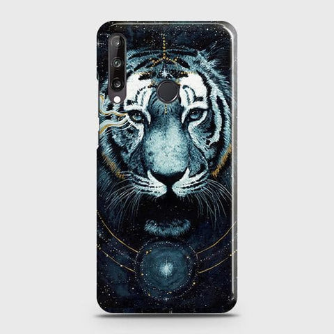Huawei Y7p Cover - Vintage Galaxy Tiger Printed Hard Case with Life Time Colors Guarantee