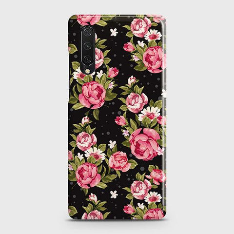 Honor 9X Pro Cover - Trendy Pink Rose Vintage Flowers Printed Hard Case with Life Time Colors Guarantee