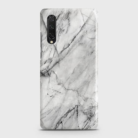 Honor 9X Pro Cover - Trendy White Marble Printed Hard Case with Life Time Colors Guarantee
