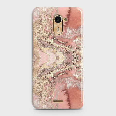 Trendy Chic Rose Gold Marble 3D Case For Infinix Hot 4 / X557