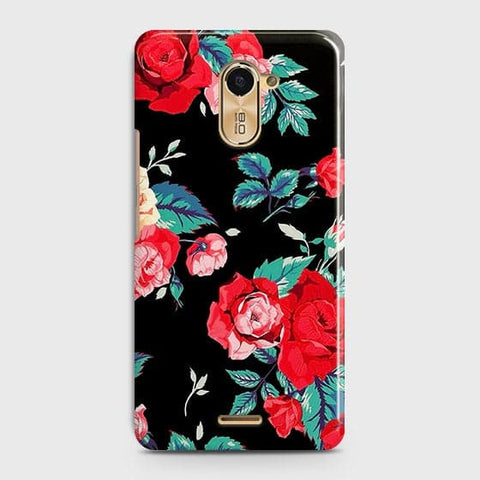 Luxury Vintage Red Flowers Case For Infinix Hot 4 / X557