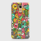 Infinix Hot 4 / Hot 4 Pro Cover - Candy Colors Trendy Sticker Bomb Printed Hard Case with Life Time Colors Guarantee