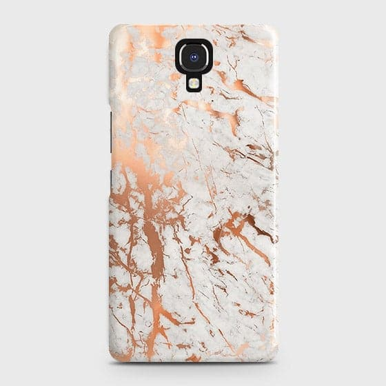 Infinix Note 4 / X572 Cover - In Chic Rose Gold Chrome Style Printed Hard Case with Life Time Colors Guarantee