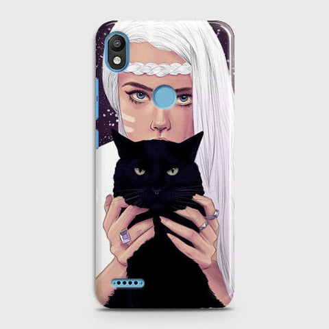 Trendy Wild Black Cat Case For Infinix Smart 2 / X5515