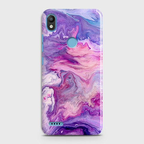 3D Chic Blue Liquid Marble Case For Infinix Smart 2 / X5515