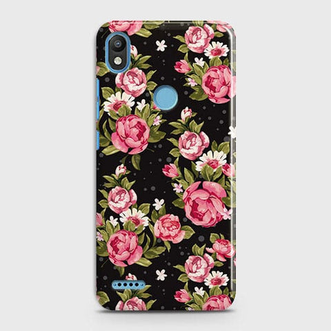 Trendy Pink Rose Vintage Flowers Case For Infinix Smart 2 / X5515