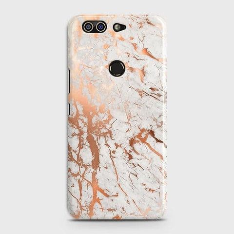 Infinix Zero 5 Cover - In Chic Rose Gold Chrome Style Printed Hard Case with Life Time Colors Guarantee