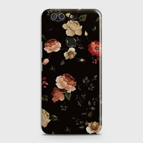 Infinix Zero 5Cover - Dark Rose Vintage Flowers Printed Hard Case with Life Time Colors Guarantee