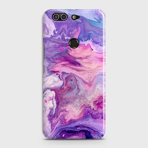 3D Chic Blue Liquid Marble Case For Infinix Zero 5