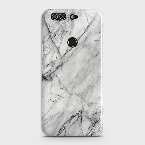 Infinix Zero 5 Cover - Trendy White Floor Marble Printed Hard Case with Life Time Colors Guarantee