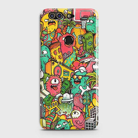 Printed Candy Colors Trendy Sticker Bomb Case with Life Time Color Guarantee For Infinix Zero 5