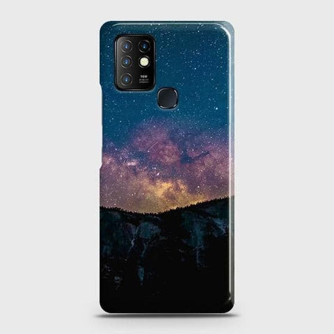 Infinix Hot 10 Cover - Embrace Dark Galaxy  Trendy Printed Hard Case with Life Time Colors Guarantee