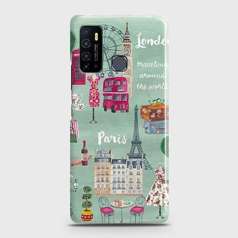 Infinix Hot 9 Pro Cover - London, Paris, New York ModernPrinted Hard Case with Life Time Colors Guarantee