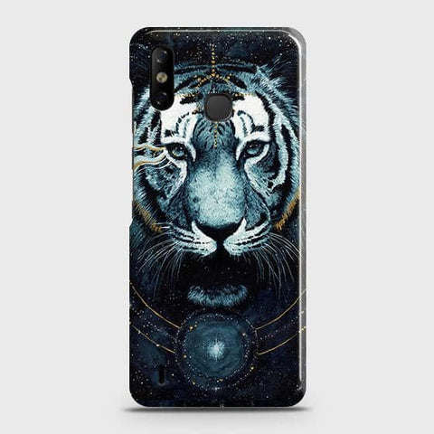 Infinix Smart 4 Cover - Vintage Galaxy Tiger Printed Hard Case with Life Time Colors Guarantee