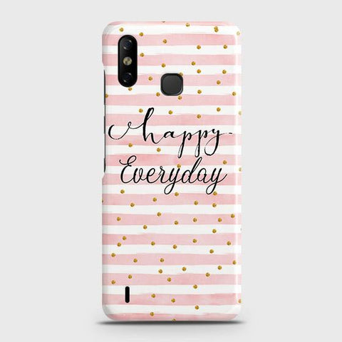 Infinix Smart 4 Cover - Trendy Happy Everyday Printed Hard Case with Life Time Colors Guarantee