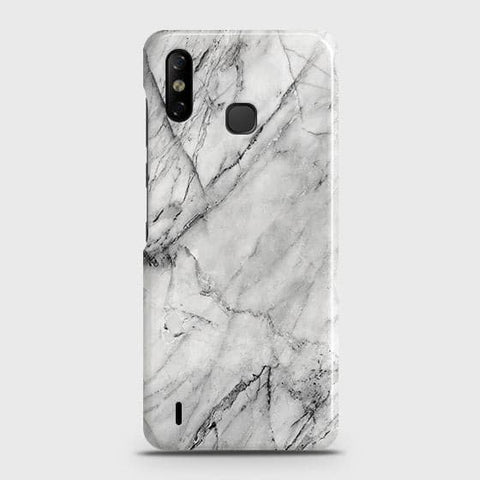 Infinix Smart 4 Cover - Trendy White Marble Printed Hard Case with Life Time Colors Guarantee
