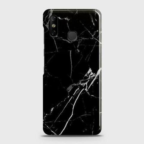Infinix Smart 4 Cover - Black Modern Classic Marble Printed Hard Case with Life Time Colors Guarantee