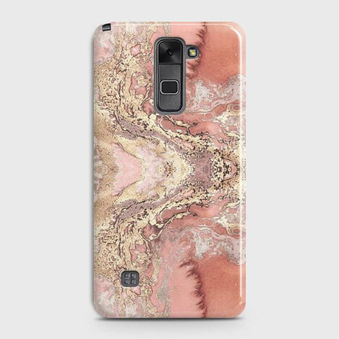 Trendy Chic Rose Gold Marble 3D Case For LG Stylus 2 / Stylo 2