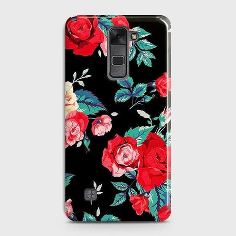 Luxury Vintage Red Flowers Case For LG Stylus 2 / Stylo 2