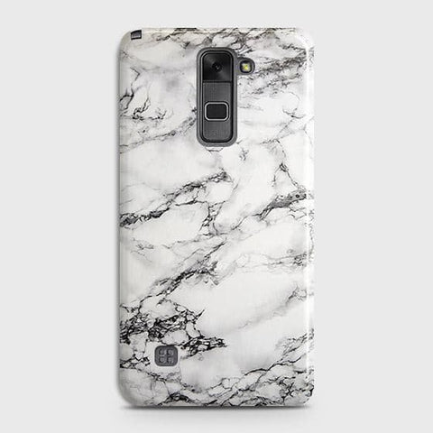 LG Stylus 2 / Stylo 2 Cover - Trendy White Floor Marble Printed Hard Case with Life Time Colors Guarantee