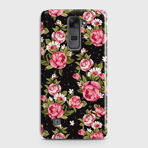 Trendy Pink Rose Vintage Flowers Case For LG Stylus 2 / Stylo 2
