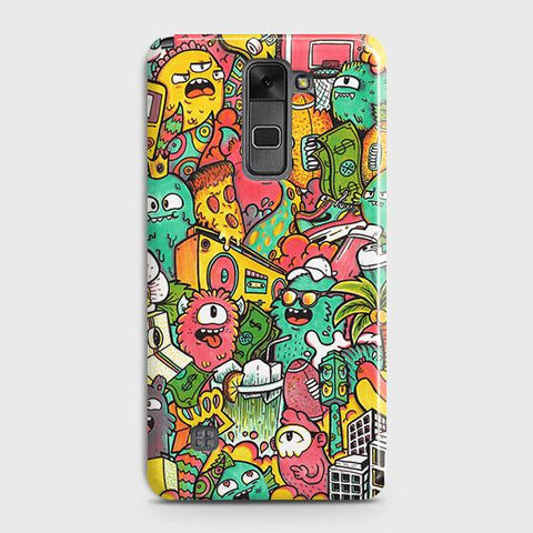 LG Stylus 2 / Stylus 2 Plus / Stylo 2 / Stylo 2 Plus Cover - Candy Colors Trendy Sticker Bomb Printed Hard Case with Life Time Colors Guarantee
