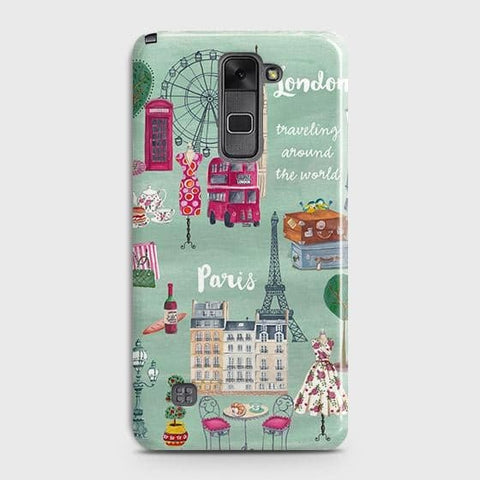 LG Stylus 2 / Stylo 2 Cover - London, Paris, New York ModernPrinted Hard Case with Life Time Colors Guarantee