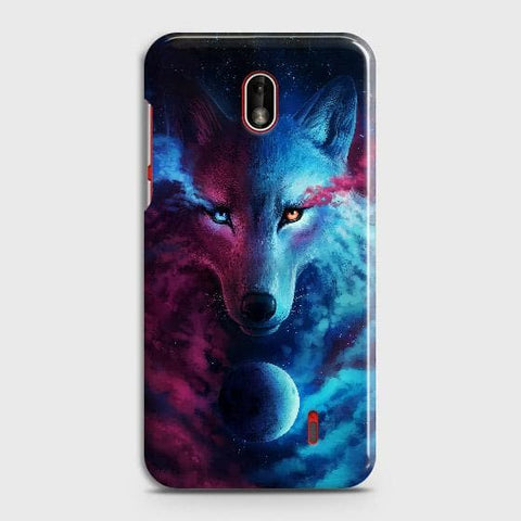 Nokia 1 Plus Cover - Infinity Wolf Trendy Printed Hard Case with Life Time Colors Guarantee