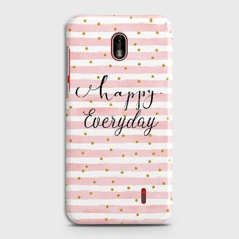 Nokia 1 Plus Cover - Trendy Happy Everyday Printed Hard Case with Life Time Colors Guarantee