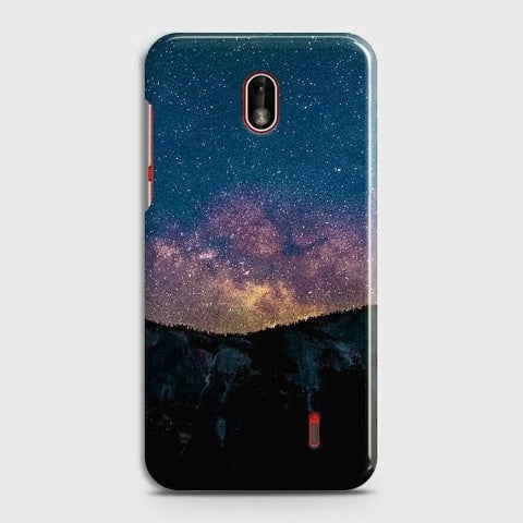 Nokia 1 Plus Cover - Embrace Dark Galaxy  Trendy Printed Hard Case with Life Time Colors Guarantee