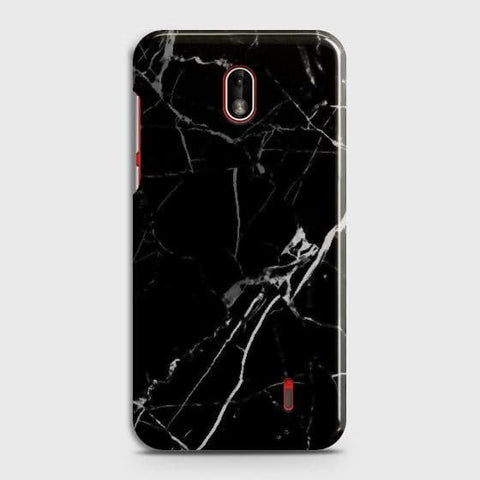 Nokia 1 Plus Cover - Black Modern Classic Marble Printed Hard Case with Life Time Colors Guarantee