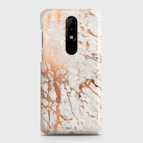 3D Print in Chic Rose Gold Chrome Style Case For Nokia 3.1 Plus