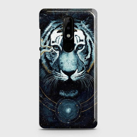 Vintage Galaxy 3D Tiger Case For Nokia 5.1 Plus / Nokia X5