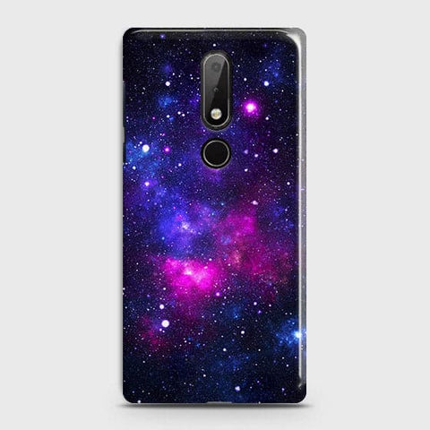 Nokia 7.1 Cover - Dark Galaxy Stars Modern Printed Hard Case with Life Time Colors Guarantee