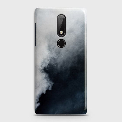 Nokia 7.1 Cover - Trendy White Floor Marble Printed Hard Case with Life Time Colors Guarantee