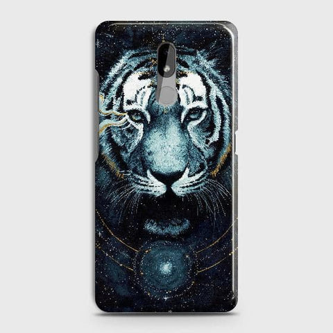 Nokia 3.2 Cover - Vintage Galaxy Tiger Printed Hard Case with Life Time Colors Guarantee