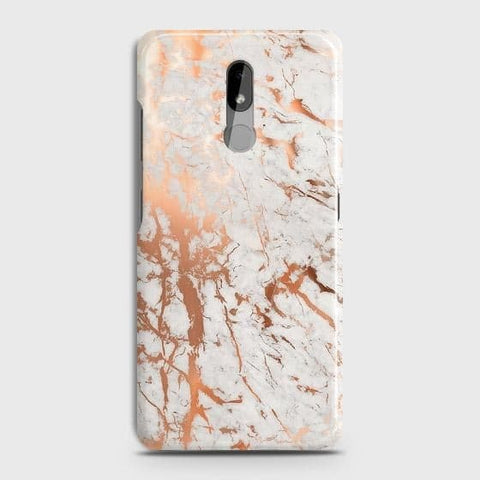 Nokia 3.2 Cover - In Chic Rose Gold Chrome Style Printed Hard Case with Life Time Colors Guarantee