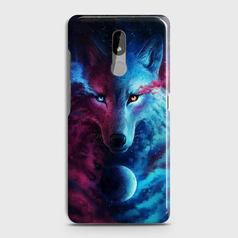 Nokia 3.2 Cover - Infinity Wolf Trendy Printed Hard Case with Life Time Colors Guarantee