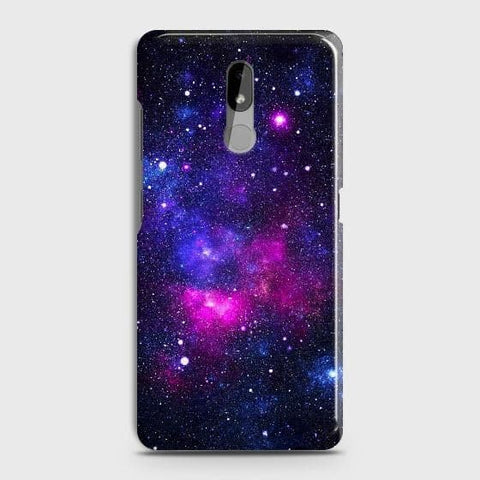Nokia 3.2 Cover - Dark Galaxy Stars Modern Printed Hard Case with Life Time Colors Guarantee