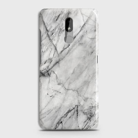 Nokia 3.2 Cover - Trendy White Floor Marble Printed Hard Case with Life Time Colors Guarantee