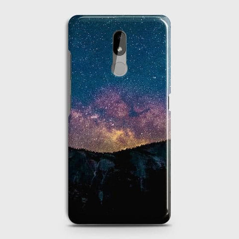 Nokia 3.2 Cover - Embrace Dark Galaxy  Trendy Printed Hard Case with Life Time Colors Guarantee