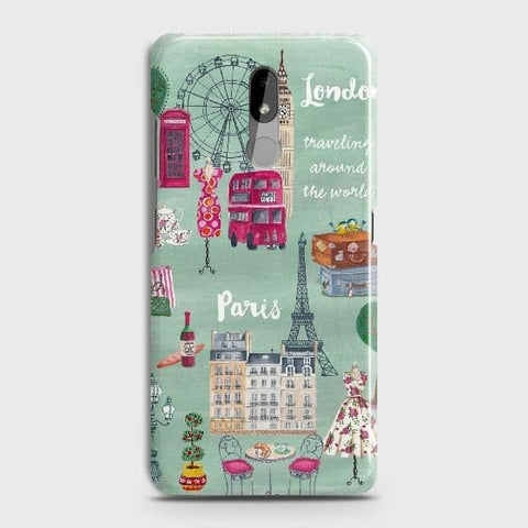 Nokia 3.2 Cover - London, Paris, New York ModernPrinted Hard Case with Life Time Colors Guarantee