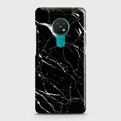 Nokia 6.2 Cover - Trendy Black Marble Printed Hard Case with Life Time Colors Guarantee