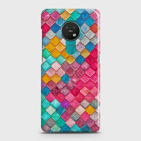 Nokia 6.2 Cover - Chic Colorful Mermaid Printed Hard Case with Life Time Colors Guarantee