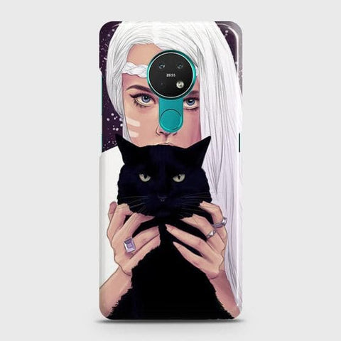 Nokia 6.2 Cover - Trendy Wild Black Cat Printed Hard Case with Life Time Colors Guarantee