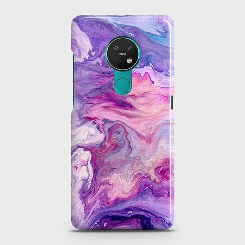 Nokia 6.2 Cover - Chic Blue Liquid Marble Printed Hard Case with Life Time Colors Guarantee