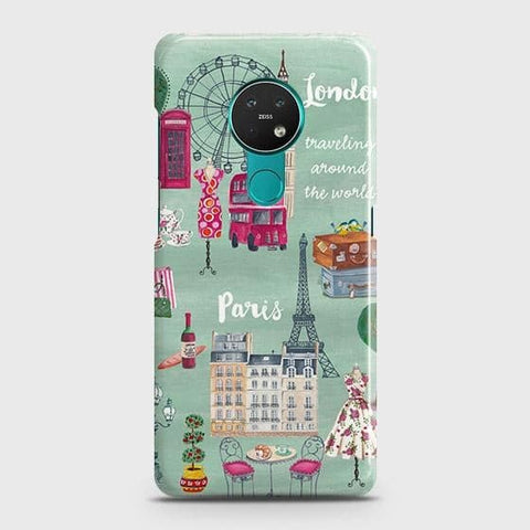 Nokia 6.2 Cover - London, Paris, New York ModernPrinted Hard Case with Life Time Colors Guarantee