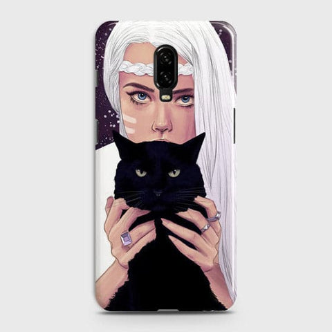 Trendy Wild Black Cat Case For OnePlus 6T