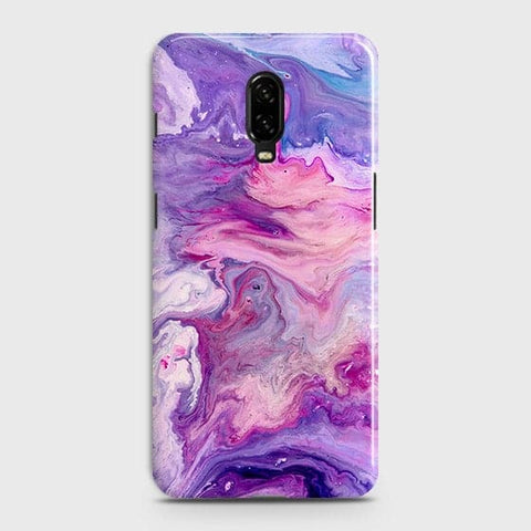3D Chic Blue Liquid Marble Case For OnePlus 6T