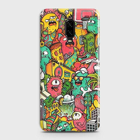 Candy Colors Trendy Sticker Bomb Case For OnePlus 6T
